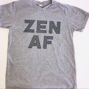 Graphic tshirt Zen AF grey and black
